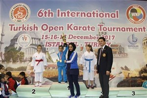 Iranian Girl Snatches Gold in Turkish Open Karate Tournament