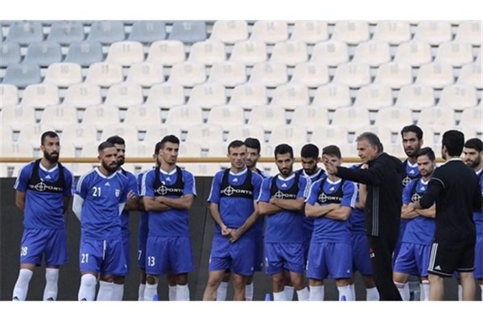 برگزاری آخرین جلسه تمرینی تیم ملی پس از هفته بیست و سوم لیگ برتر