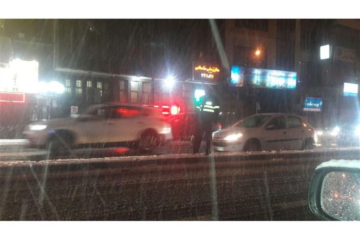 مشکلات بارش برف در  تهران