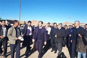 بازدید وزیر کشور از مناطق زلزلهزده جور کوهبنان