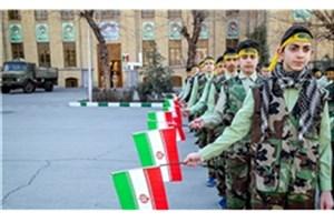صبحگاه مشترک 3000 دانشآموز بسیجی در دانشگاه افسری امام علی(ع) برگزار شد