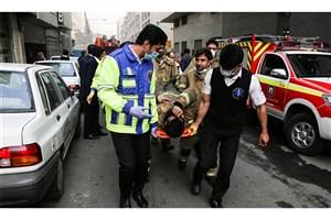 اعلام تعداد مصدومان آتش سوزی ساختمان  وزارت نیرو