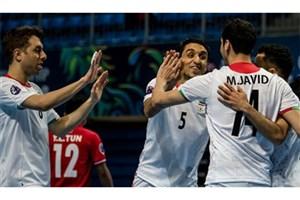 فوتسال ایران در رده ششم جهان و اول آسیا ایستاد