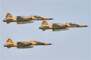 جنگندههای ارتش و سپاه برای رژه 31 شهریور در بندرعباس تمرین کردند