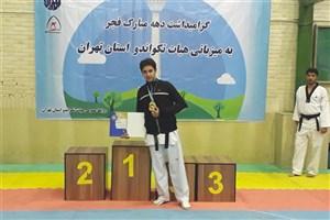 کسب مقام اول دانشجوی واحد بوکان در دومین دوره رقابت های قهرمانی کشور پاراتکواند