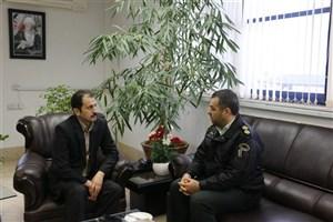 دیدار فرمانده انتظامی سیاهکل  با رئیس دانشگاه آزاد اسلامی لاهیجان