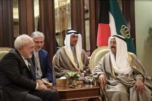 ظریف بر افزایش تماسهای مستقیم مقامات ایران و کویت تاکید کرد