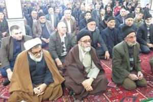 حضور سرزده آلهاشم در نماز جمعه شهر شربیان