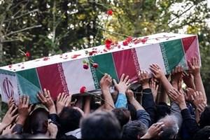 پیکر یک شهید گمنام در قم به خاک سپرده شد