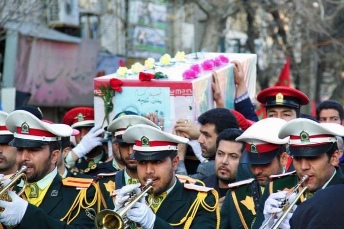 مردان بی ادعا   در باران آمدند/  امروز تهران  میزبان 14 شهید دفاع مقدس  نیروی انتظامی بود