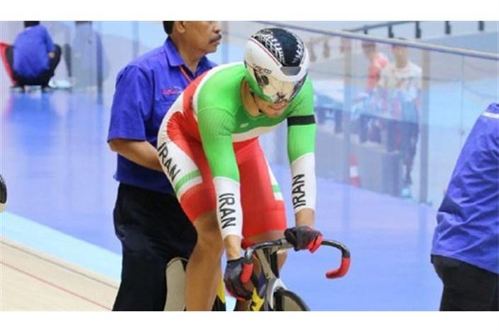 دانشور رکورد خودش را در قهرمانی دوچرخه سواری آسیا شکست