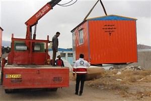 اهدای کانکس به زلزلهزدگان کوهبنان