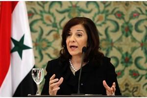 بثینه شعبان: تجاوز ترکیه به سوریه مانع ایجاد راه حل سیاسی می شود