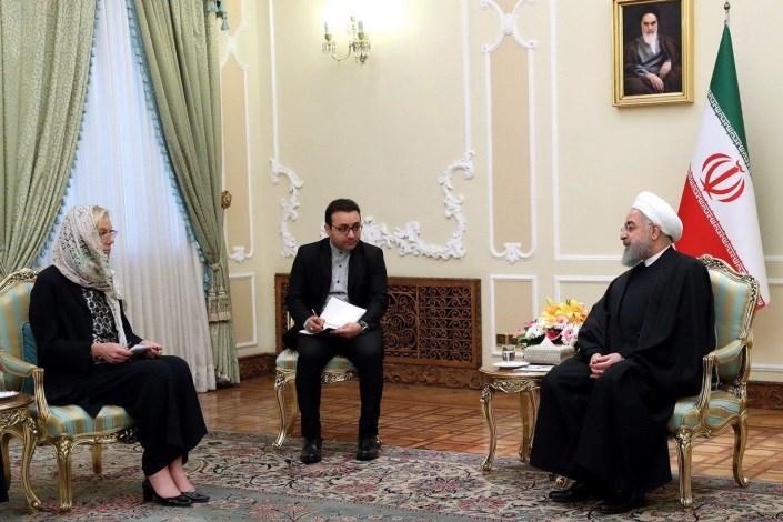 روحانی با وزیر امور خارجه هلند دیدار کرد