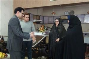 دیدار مسئولان دانشگاه آزاد اسلامی گناباد با خانواده شهید حسن حاج علی