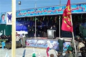 پیکر دو شهید گمنام، در دانشگاه آزاد اسلامی بردسکن تشییع و دفن شد