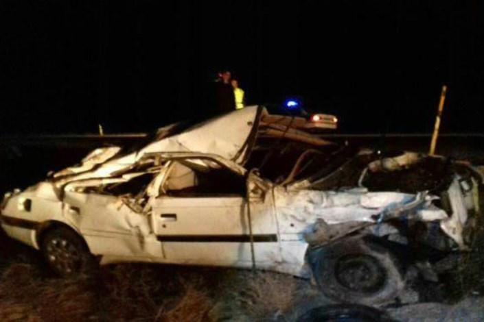 دو کشته و زخمی بر اثر تصادف در محور بجستان- فردوس
