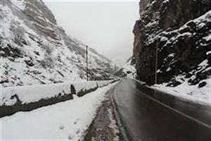 بارش برف و باران در محورهای آذربایجان شرقی و غربی و کردستان