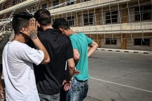 از 241  نفر اراذل و اوباش دستگیر شده 63  نفر زیر 18سال بودند !