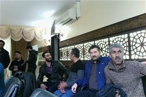 اعتراض کارگران پروژه های شهرداری گرگان در صحن شورا