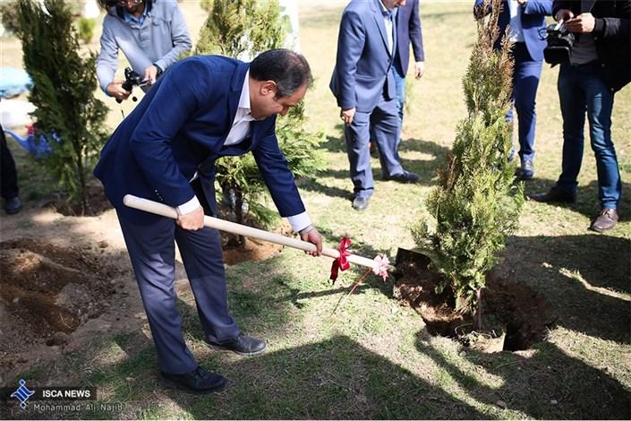 مراسم روز درختکاری در آسایشگاه قدس