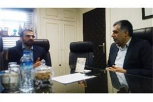 دیدار رئیس فرهنگسرای انقلاب با سرپرست خانه کتاب