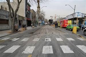 مرمت و نوسازی روکش آسفالت معابر مرکزی شهر تهران در آستانه سال جدید