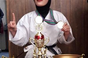 دانشجوی واحد اردبیل در اردوی انتخابی تیم ملی و المپیک کاراته