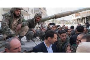 حضور بشار اسد در غوطه شرقی