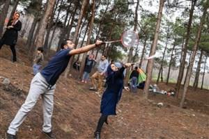 کمپ اسکان موقت برای مسافران نوروزی در بوستان جنگلی سرخه حصار
