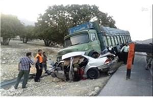 تصادف مرگبار سه اتوبوس با پراید