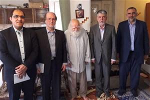 دیدار وزیر فرهنگ ارشاد اسلامی با علامه حکیمی