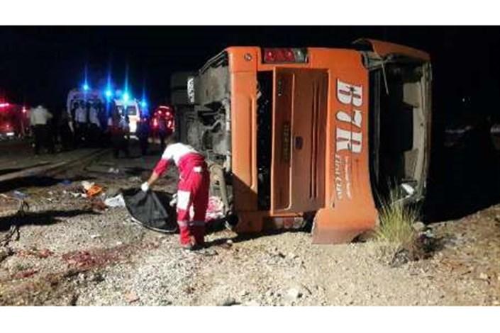 واژگونی اتوبوس مسافربری در محور سوادکوه