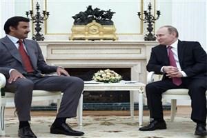 دیدار پوتین با امیر قطر