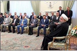 وزیر علوم و اعضای شورای معاونان وزارت علوم  دردیدار نوروزی با رییس جمهوری