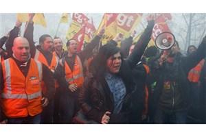 راهپیمایی کارگران خطوط آهن فرانسه در چهارمین روز پیاپی