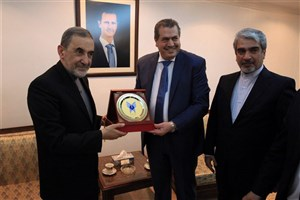 Dr. Velayati Visits Syria Minister of Higher Education