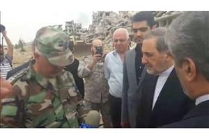 بازدید دکتر ولایتی  از غوطه شرقی دمشق در سوریه