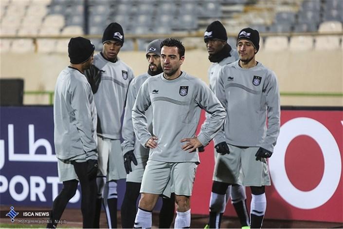 تمرین تیم السد قطر پیش از دیدار با استقلال