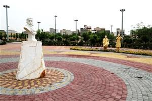 نصب تندیس شهید حججی در بوستان حججی