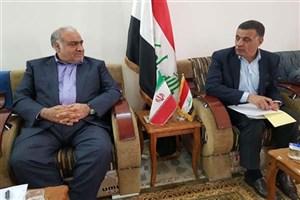 مذاکرات استاندار کرمانشاه و استاندار دیالی عراق پیرامون همکاریهای اقتصادی و گمرکی