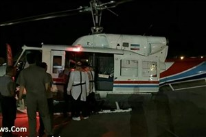 سقوط بالگرد فلات قاره در آبهای خلیج فارس / هلیکوپتر نجات نه تنها مصدومان را نجات نداد بلکه خود نیز سقوط کرد!