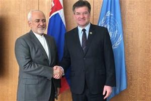دیدار ظریف با رئیس مجمع عمومی سازمان ملل متحد در نیویورک