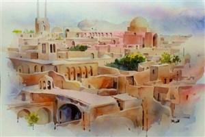 نمایشگاه«آب و رنگ ایران» در «آسمان» گشایش یافت