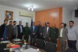 دیدار مسئولان دانشگاه آزاد اسلامی واحد بندر انزلی با فرمانده ناحیه سپاه