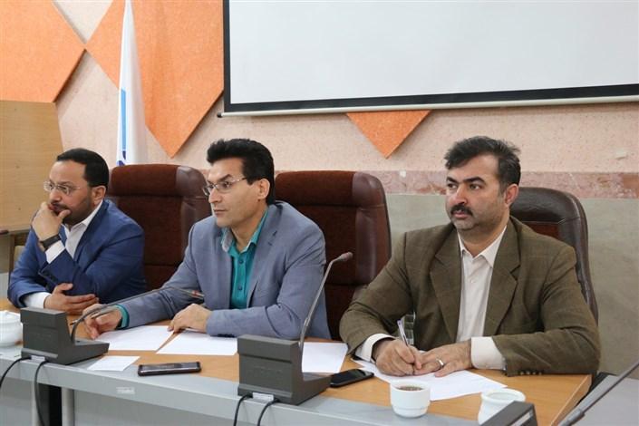 جلسه مشترک دکتر رسولی با کارمندان حوزه آموزش واحد اردبیل