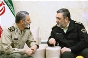 فرمانده نیروی انتظامی و فرمانده کل ارتش دیدار کردند