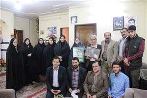 دیدار جمعی از اساتید، کارکنان و دانشجویان دانشگاه آزاد اسلامی واحد لاهیجان  با خانواده شهید پرویز احدی