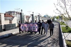 همایش پیاده روی دانشگاهیان در اهر برگزار شد