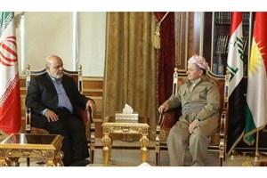 دیدار مسعود بارزانی با سفیر ایران در عراق